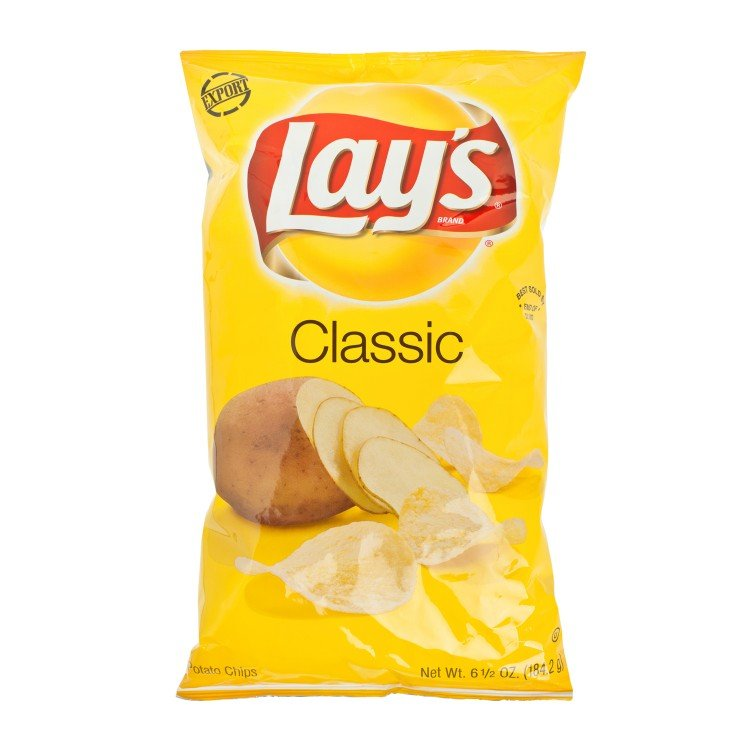 LAY'S - REGULAR POTATO CHIPS - 184.2G