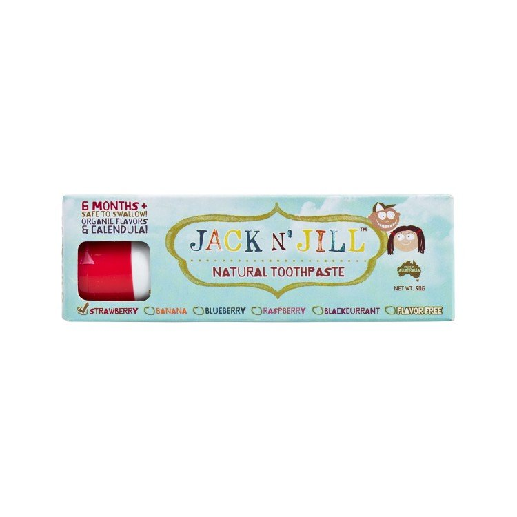 JACK N' JILL - NATURAL TOOTHPASTE-STRAWBERRY - 50G