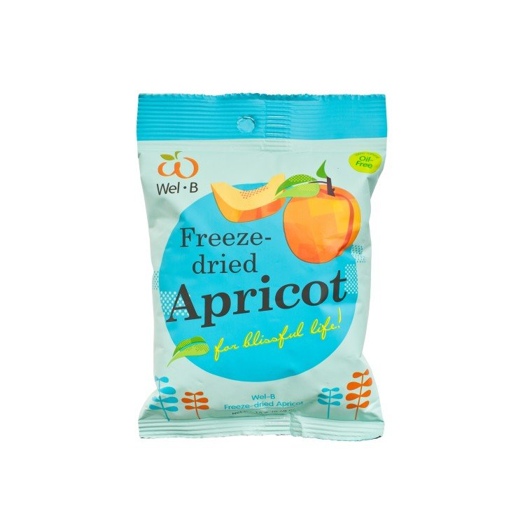 WEL-B - 100% NATURAL FREEZE-DRIED APRICOT - 14G