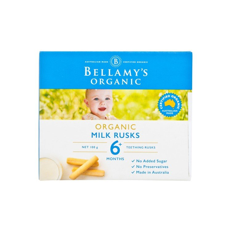 BELLAMY'S ORGANIC - TOOTHIEPEGS MILK RUSKS - 100G