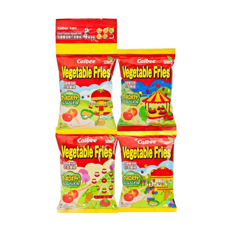 CALBEE - TOMATO FLAVOURED VEGETABLE FRIES CONTINUAL (4 PACK) - 10GX4