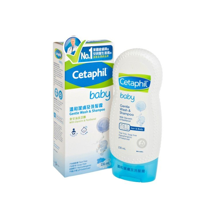 CETAPHIL - BABY GENTLE WASH AND SHAMPOO - 230ML