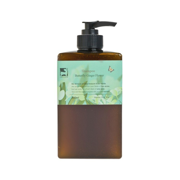 GINGERGINGER - BUTTERFLY GINGER FLOWER SHAMPOO - 500ML