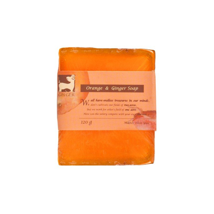 GINGERGINGER - ORANGE & GINGER SOAP - 110G