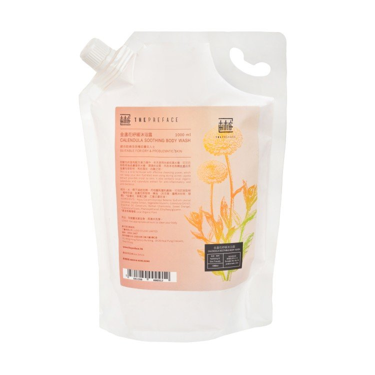 THE PREFACE - CALENDULA SOOTHING BODY WASH(FAMILY PACK) - 1L