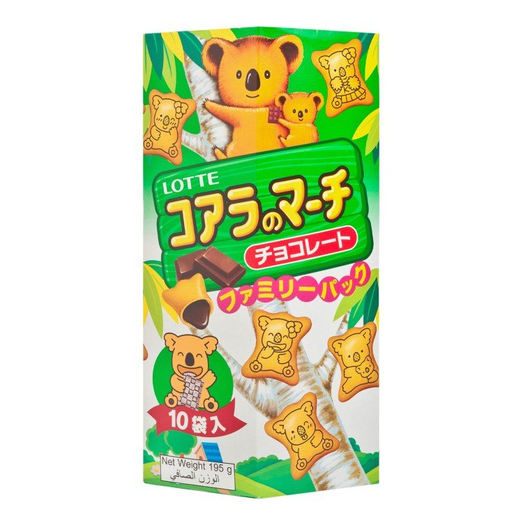LOTTE - KOALA'S MARCH-CHOCOLATE (FAMILY PACK) - 195G