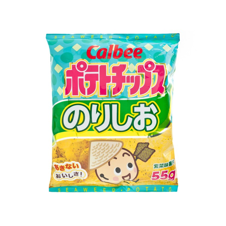 CALBEE - SEAWEED POTATO CHIPS - 55G