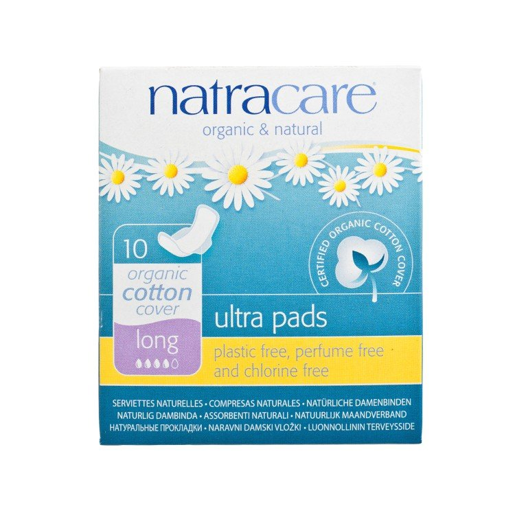NATRACARE - ULTRA PADS WITH WINGS-LONG 31CM (INDIVIDUALLY WRAPPED) - 10'S