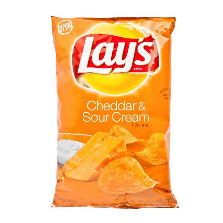 LAY'S - CHEDDAR & SOUR CREAM POTATO CHIPS - 184.2G