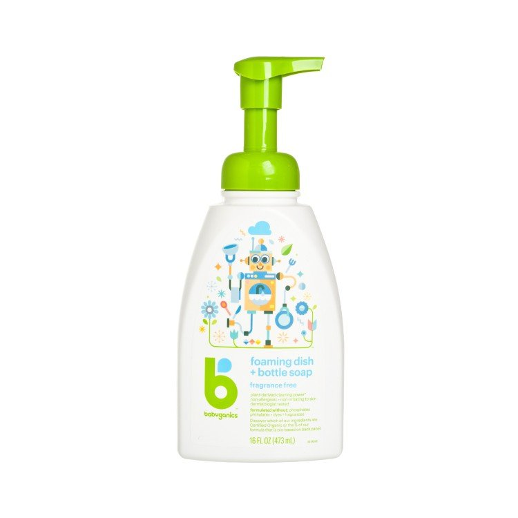 BABYGANICS(PARALLEL IMPORT) - DISH & BOTTLE SOAP-FRAGRANCE FREE - 473ML