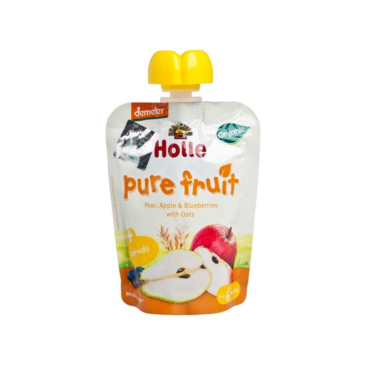 HOLLE - PEAR, APPLE & BLUEBERRIES WITH OATS - 90G