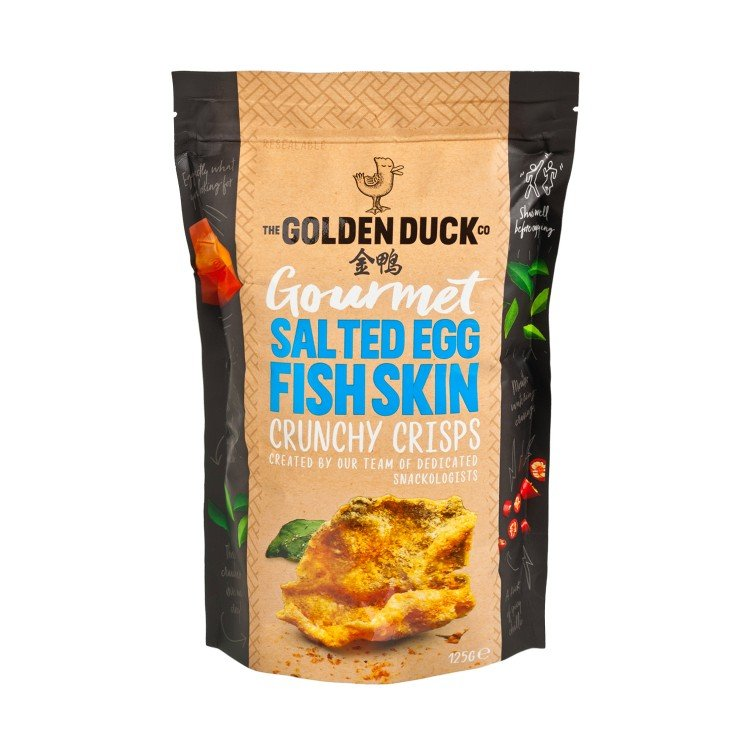THE GOLDEN DUCK - SALTED EGG YOLK FISH SKIN - 125G