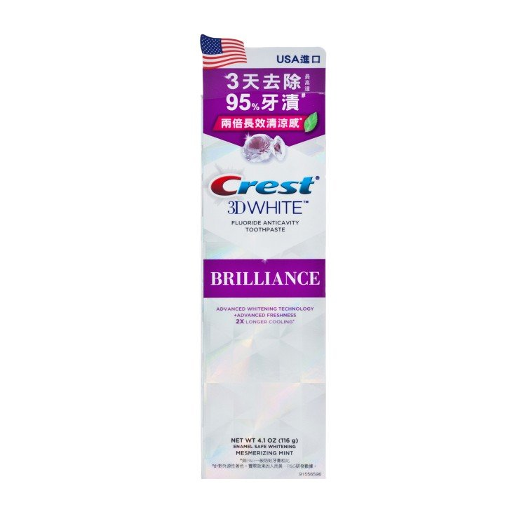 ORAL B - CREST WHITE BRILLIANCE-MINT - 116G