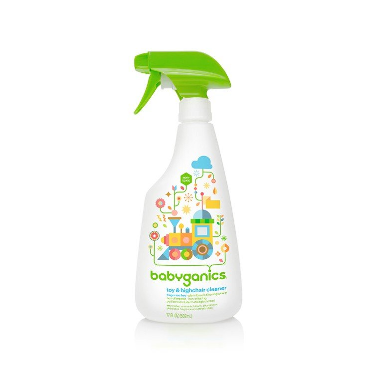 BABYGANICS - TOY & HIGHCHAIR CLEANER-FRAGRANCE FREE - 502ML