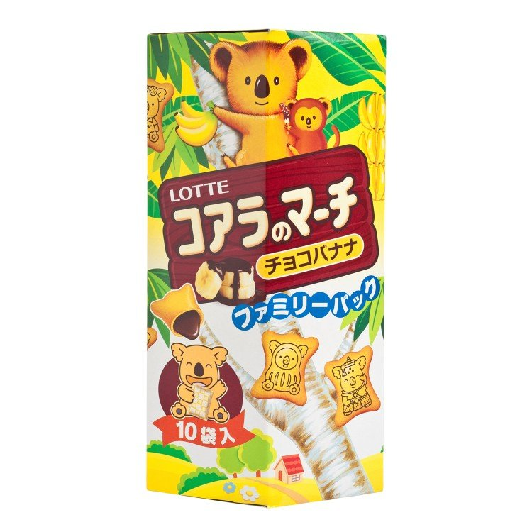 LOTTE - KOALA'S MARCH-CHOCO BANANA (FAMILY PACK) - 195G