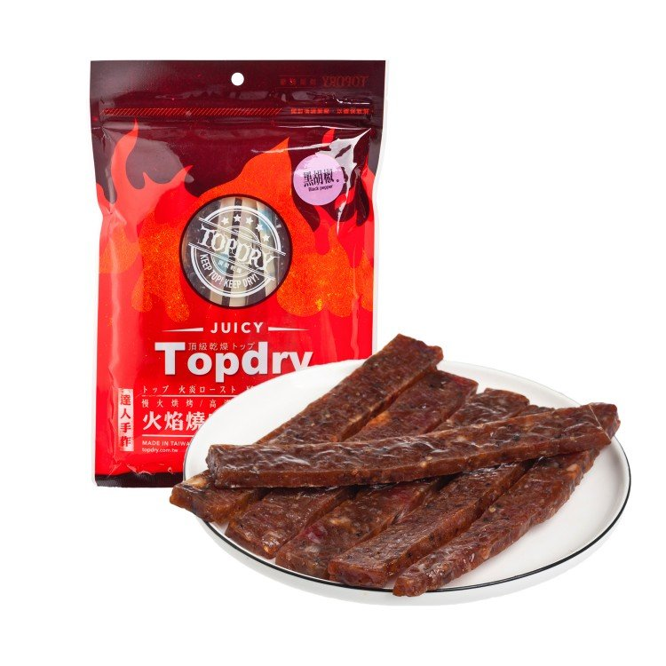 TOPDRY - PORK STICK-BLACK PEPPER - 160G
