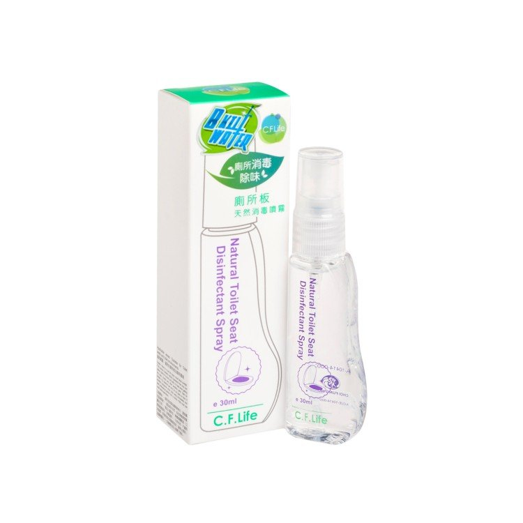 CF LIFE BY CHOI FUNG HONG - NATURAL TOILET SEAT DISINFECTANT SPRAY - 30ML