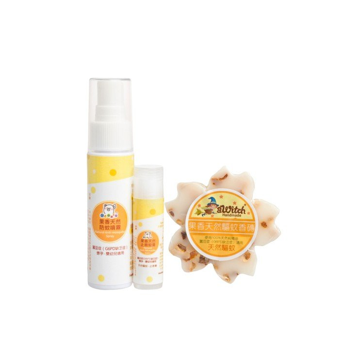 AWITCH HANDMADE - FRUITY NATURAL ANTI-MOSQUITO PACKAGE(SUITABLE FOR G6PD AND PREGNANCY) - SET
