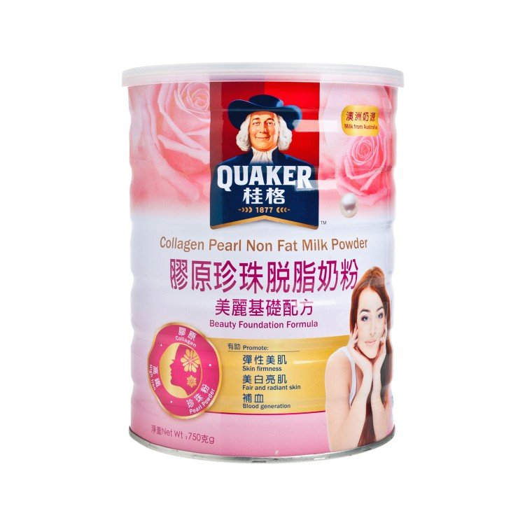 QUAKER - COLLAGEN PEATL NON FAT MILK POWDER - 750G