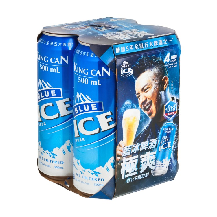 BLUE ICE - BEER(KING CAN) - 500MLX4