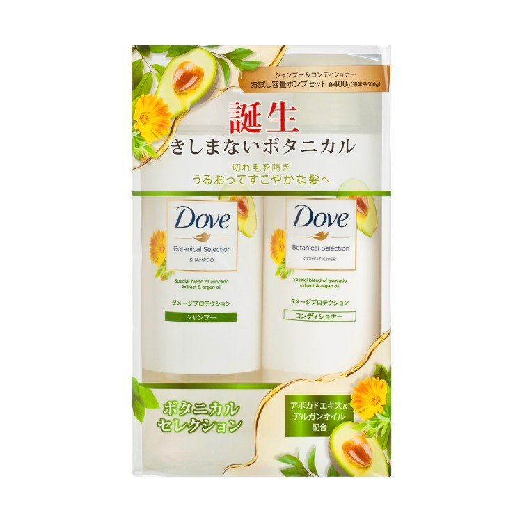 DOVE(PARALLEL IMPORT) - HAIR BOTANICAL SELECTION DAMAGE PROTECTION SET - 400GX2