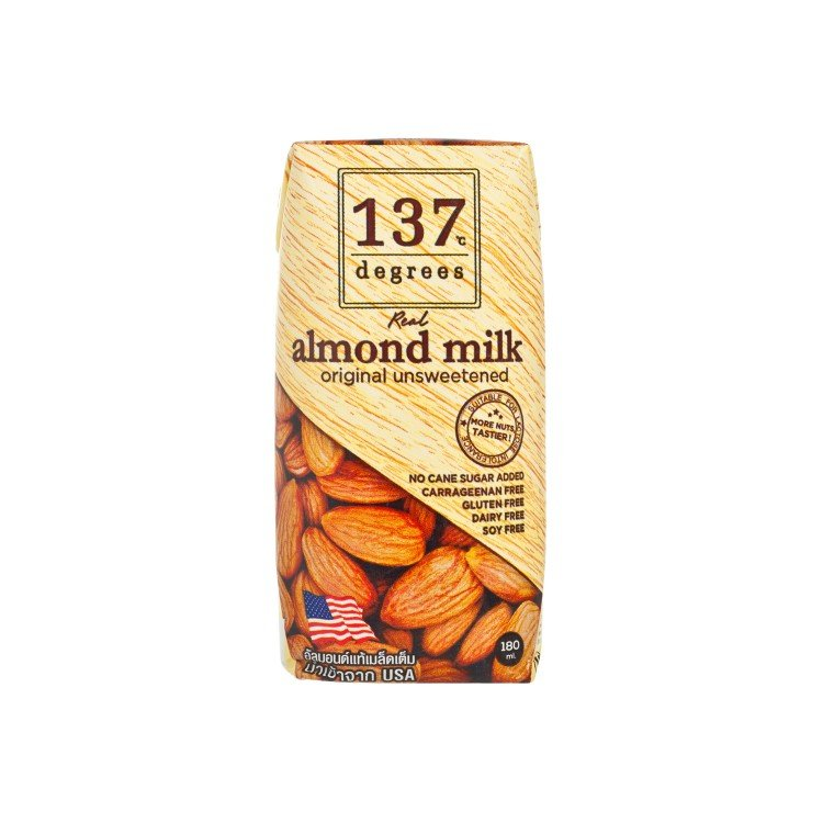 137 DEGREES - ALMOND MIL-UNSWEETENED - 180ML