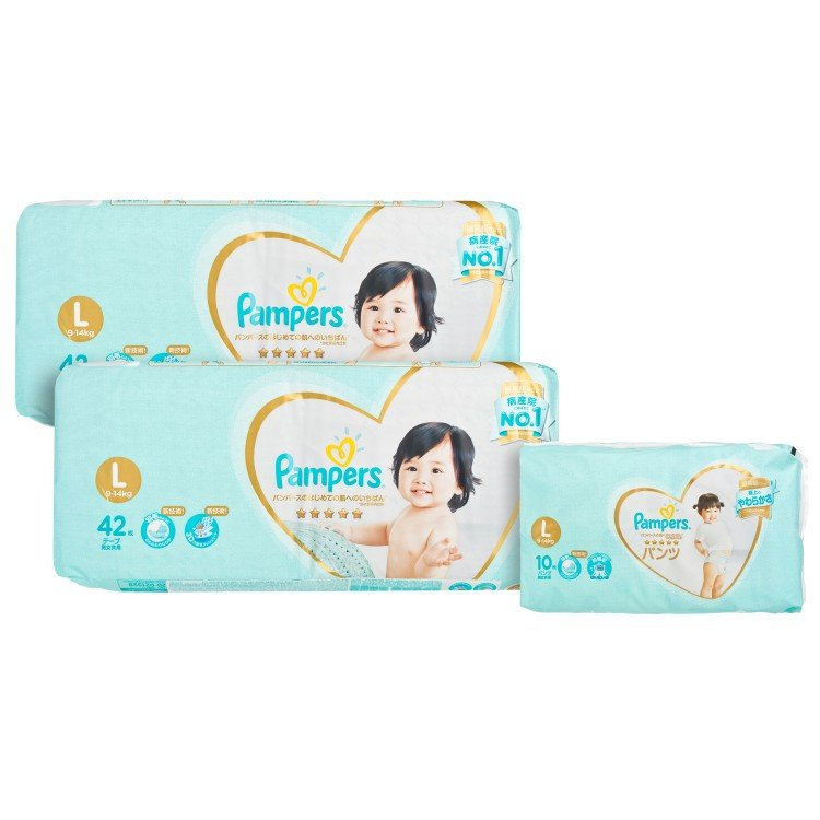 PAMPERS幫寶適 - ICHIBAN LARGE TWINS PACK - 42'SX2 + 10'SX1