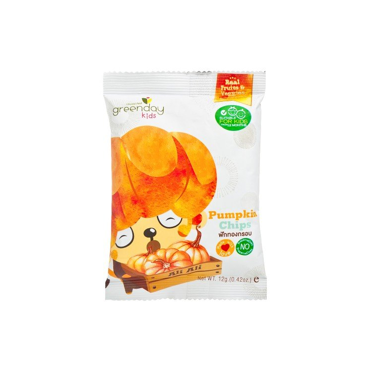 GREENDAY - HAPPY FRUIT FARM-PUMPKIN CHIPS - 12G
