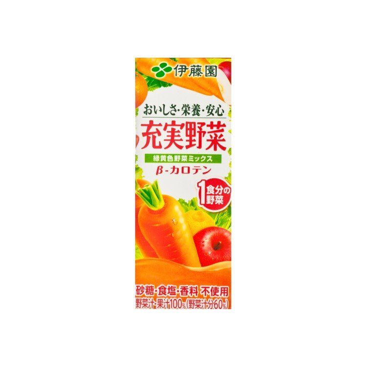 ITOEN - GREEN& YELLOW VEGETABLES JUICE TETRA PACK - 200ML