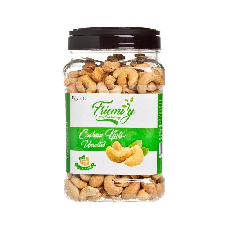 FRIEMILY - ROASTED CASHEWS-UNSALTED - 450G