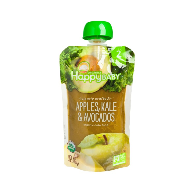 HAPPY BABY(PARALLEL IMPORT) - ORGANIC CLEARLY CRAFTED APPLE, KALE & AVOCADO - 113G