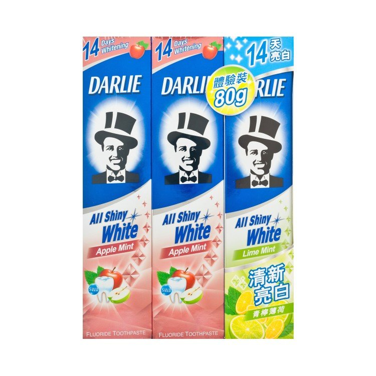 DARLIE - ALL SHINY WHITE TOOTHPASTE-APPLE - 140GX2+80G