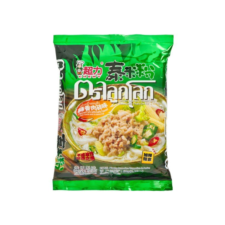 CHEWY - THAI RICE VERMICELLI-MINCED PORK WITH GARLIC FLAVOURED - 60G