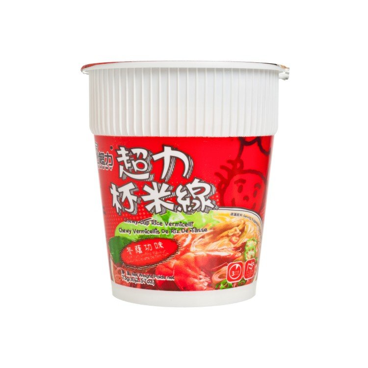 CHEWY - CUP NOODLE-RICE VERMICELLI-TUM YUM SHRIMP FLAVOURED - 73G