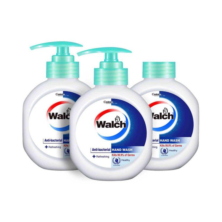 WALCH - ANTIBACTERIAL HAND WASH-REFRESHING (TWINPACK) WITH REFILL - 525MLX3