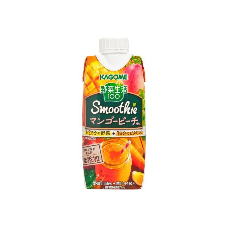 KAGOME - MANGO & PEACH MIXED SMOOTHIE - 330ML