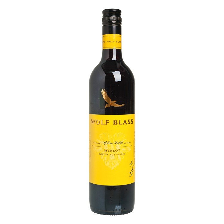 WOLF BLASS(PARALLEL IMPORT) - YELLOW LABEL MERLOT - 750ML