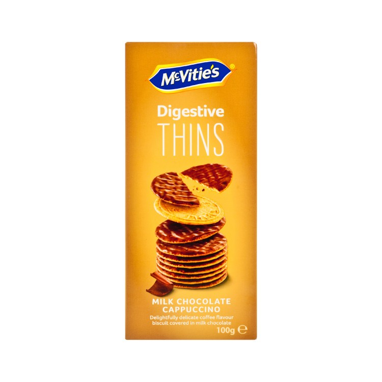 MCVITIE'S - THINS MILK CHOCOLATE CAPPUCCINO - 100G