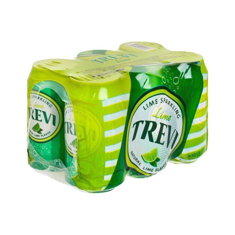 LOTTE - TREVI SPARKLING WATER LIME - 355MLX6