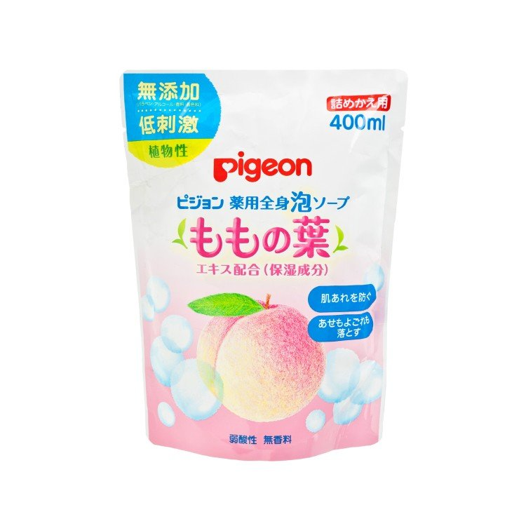 PIGEON - PEACH BABY BODY SOAP REFILL - 400ML