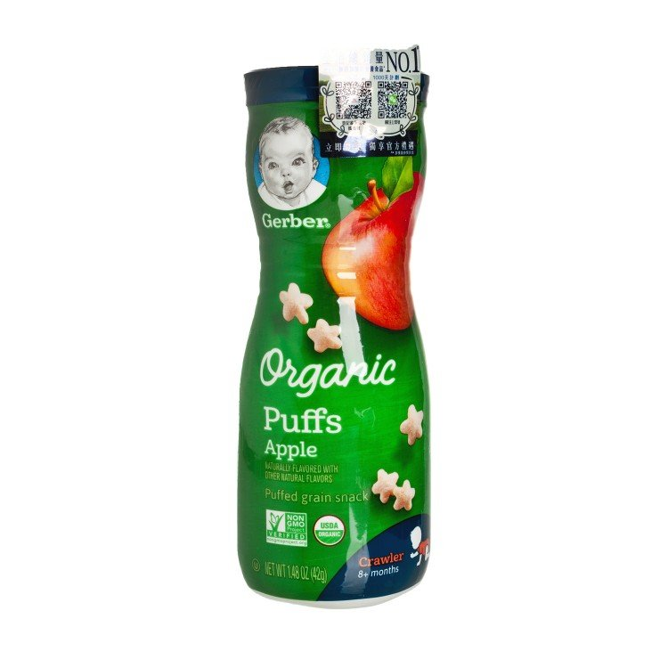GERBER - PUFFS ORGANIC APPLE - 1.48OZ