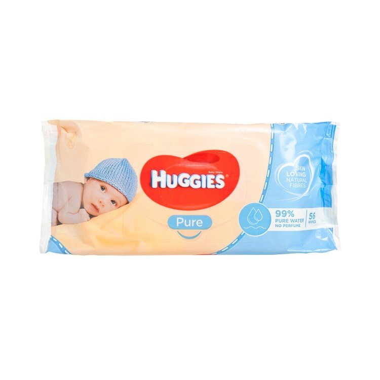 HUGGIES(PARALLEL IMPORT) - WIPES PURE (99% WATER) - 56'S