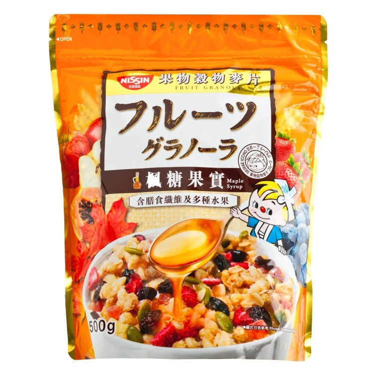 NISSIN - GRANOLA-MAPLE SYRUP - 500G