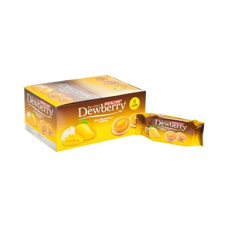 JACK'N JILL - DEWBERRY BISCUITS-MANGO STICKY RICE FLAVOURED - 36GX12