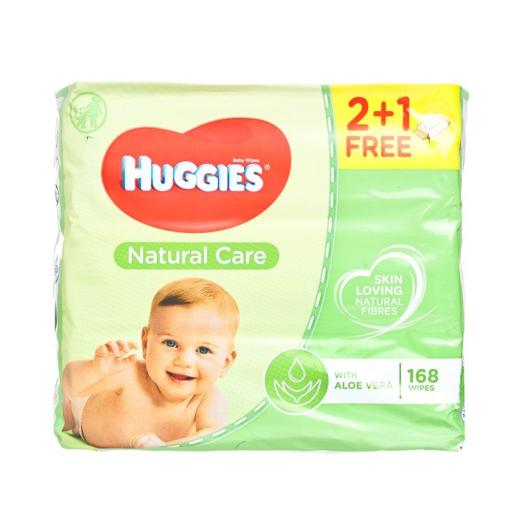 HUGGIES(PARALLEL IMPORT) - NATURAL CARE BABY WIPES 2+1 PACKS - 56'SX3
