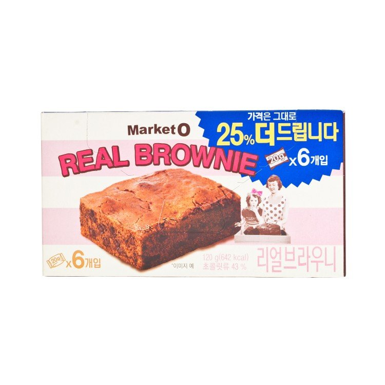 ORION - MARKET O REAL BROWNIE CHOCOLATE CAKE (VALUE PACK) - 20GX6