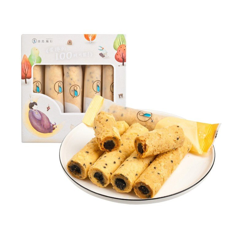 BLUE BIRD TRAVEL - BLACK SESAME EGG ROLLS - 5'S