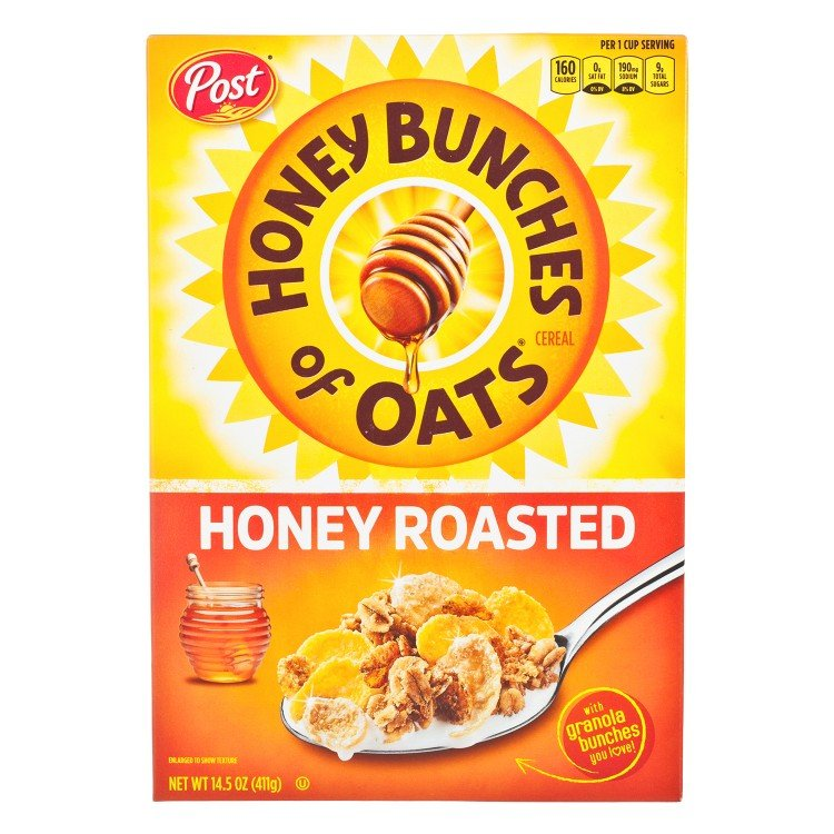 POST(PARALLEL IMPORT) - HONEY BUNCHES OF OATS-HONEY ROASTED - 411G