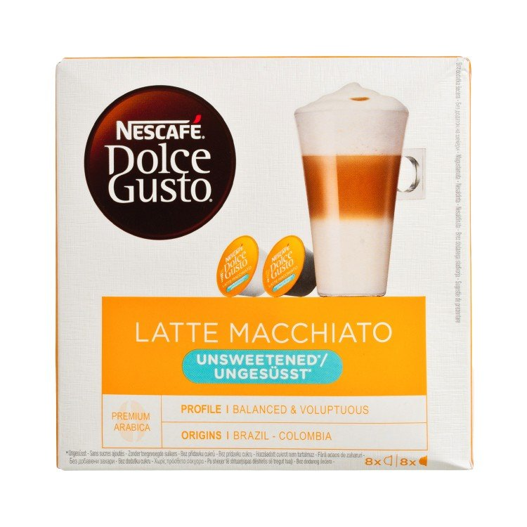 NESCAFE DOLCE GUSTO - 無糖奶泡咖啡 - 8'S