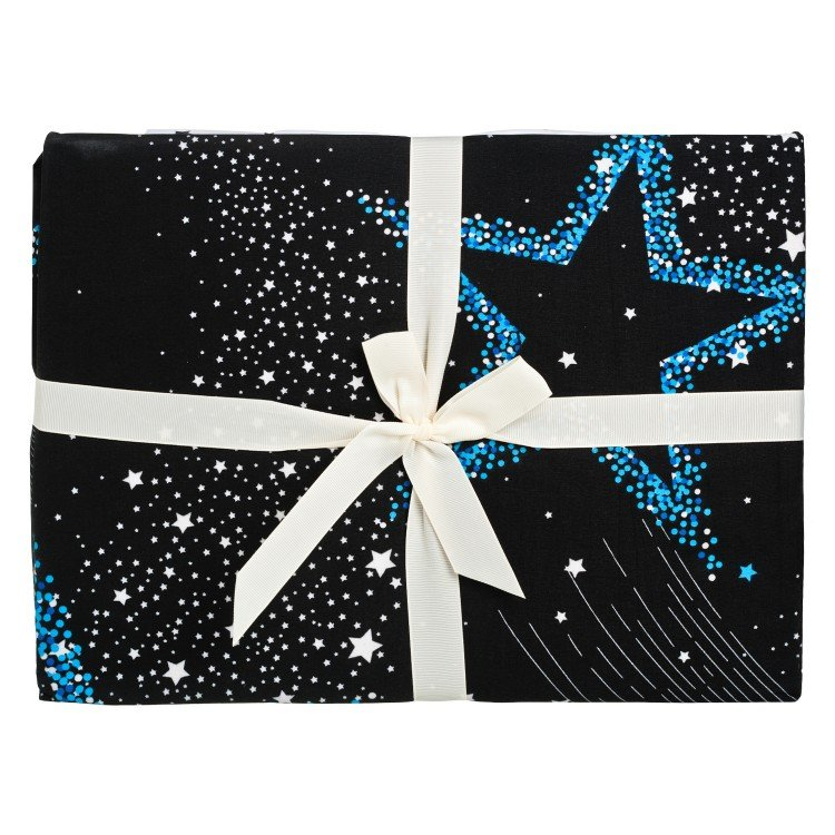 BELLES - 5 FEET QUEEN SIZE BED SHEET SET-STARRY NIGHT - SET